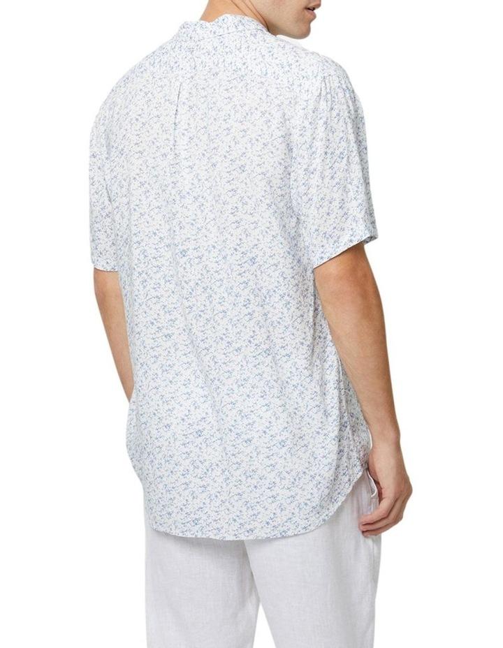 The Mandalay Short Sleeve Shirt - White Light Blue image 2
