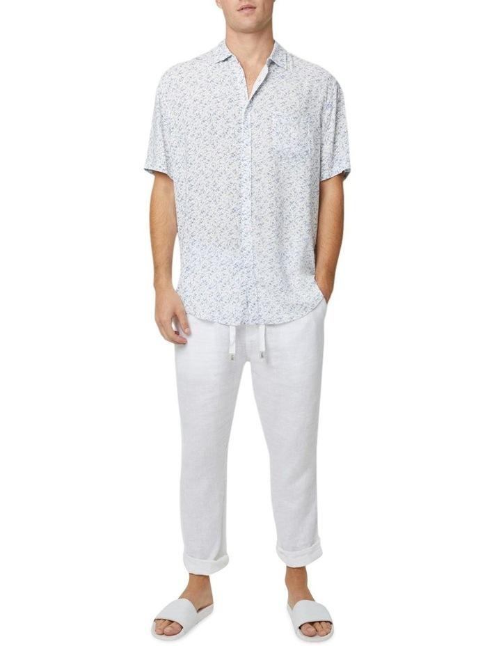 The Mandalay Short Sleeve Shirt - White Light Blue image 3