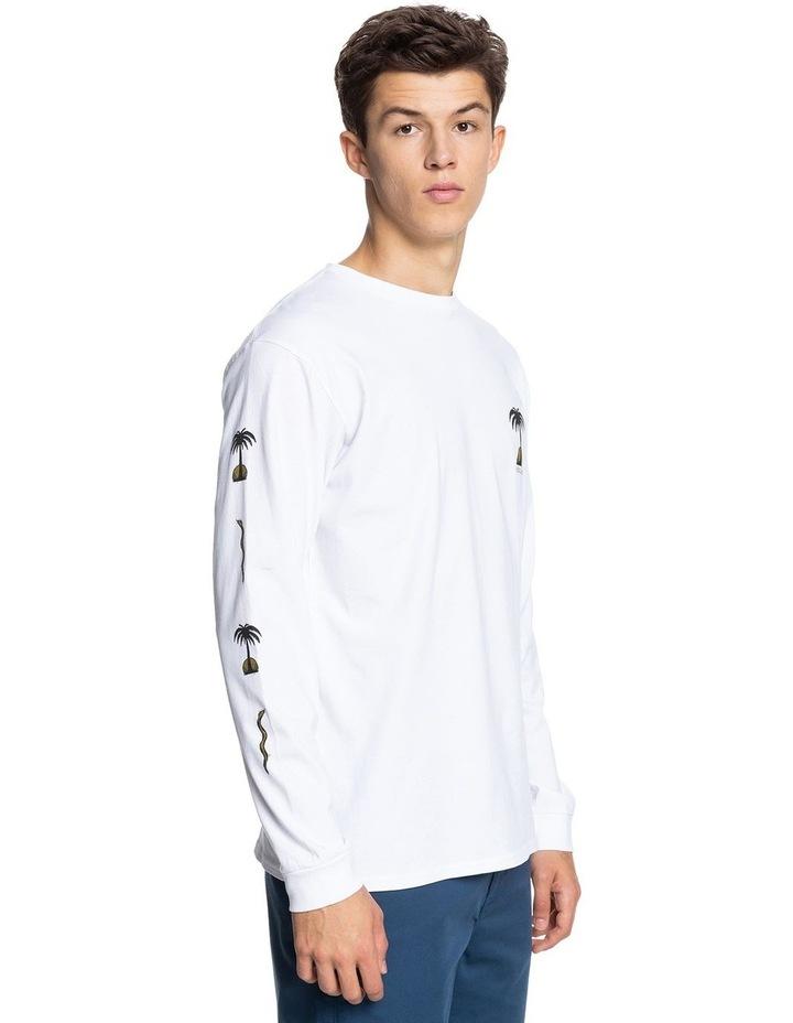 Mens Desert Snake Organic Long Sleeve T-Shirt image 2