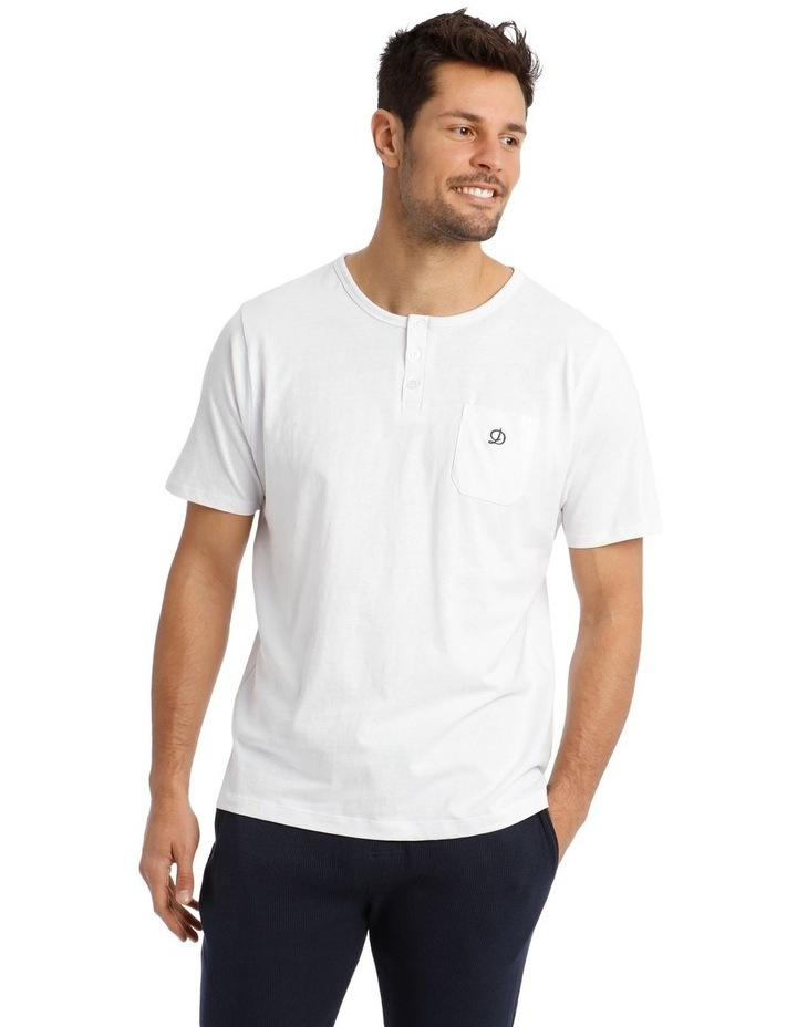 Trice Lounge Henley Tee - White image 1