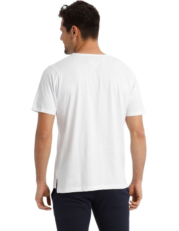 Trice Lounge Henley Tee - White image 2