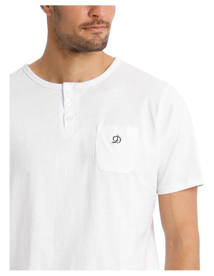 Trice Lounge Henley Tee - White image 3