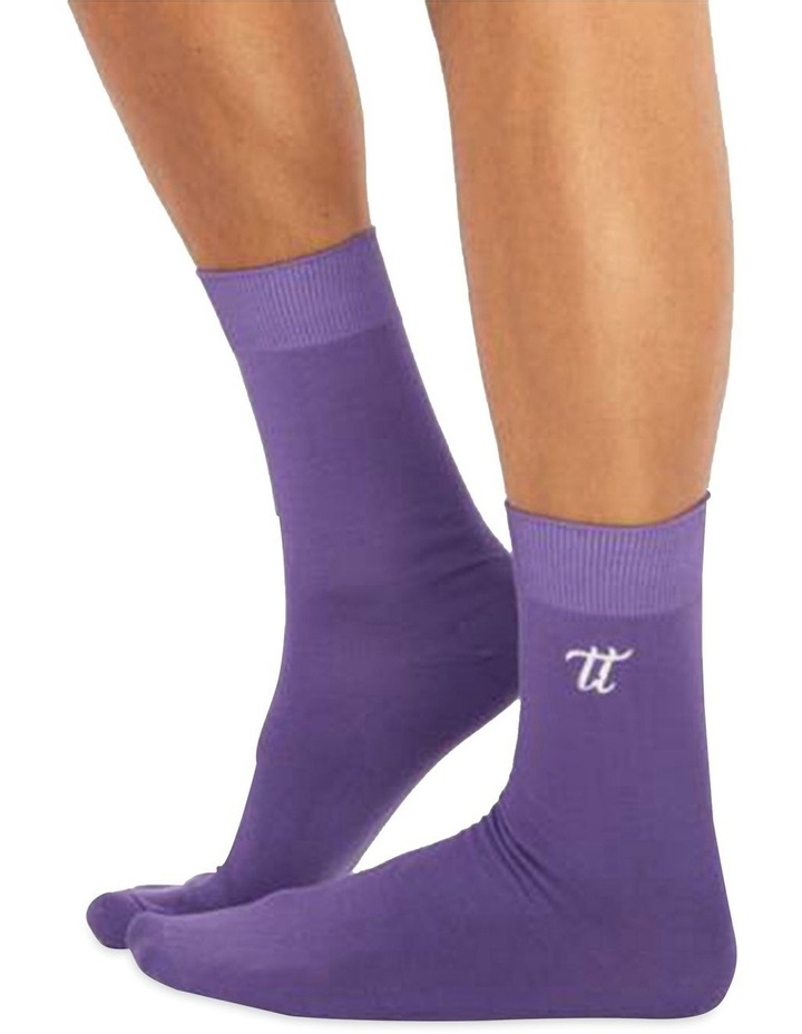 Men's Socks in Dark Violet image 1