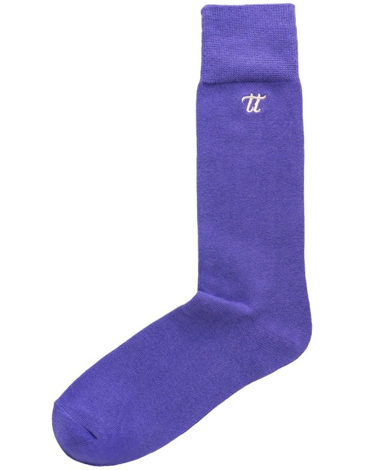 Men's Socks in Dark Violet image 2