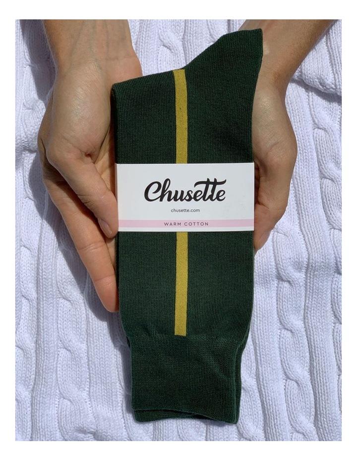 Men's Socks in Green image 2