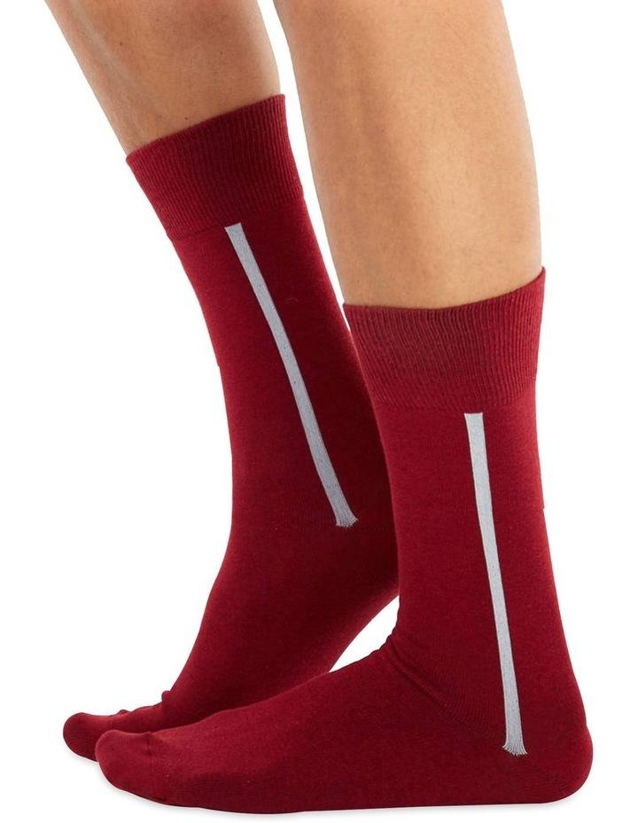 Men's Socks in Bordo image 1