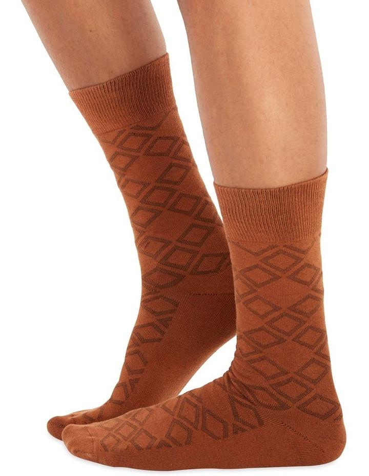Men's Socks in Brown Square image 1