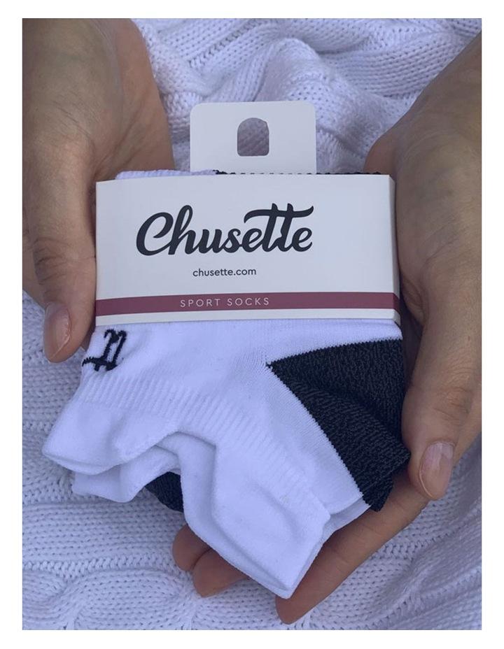 Men's Socks in White/Black image 2