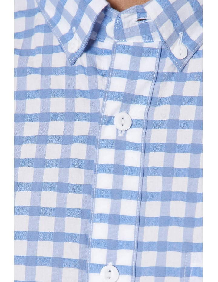 Cappy Regular-fit Seersucker Cotton Shirt image 4