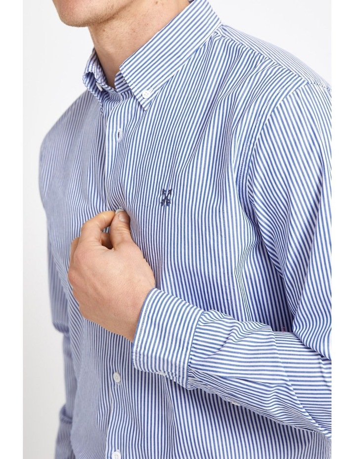 Long Sleeve Regular Stripe Broadcloth Shirt image 2