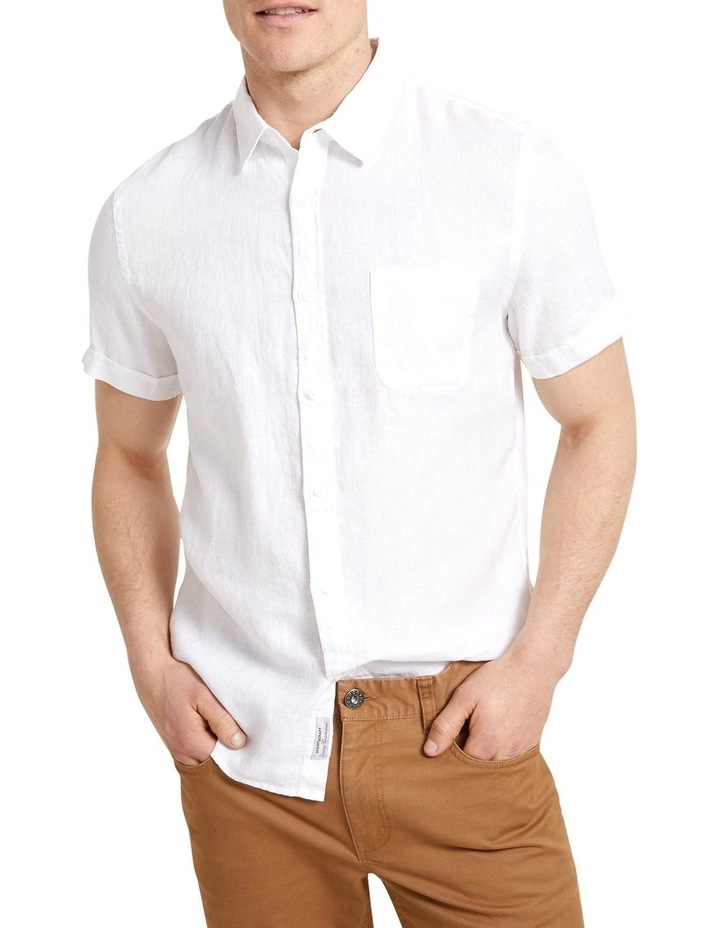 Short Sleeve Linen Shirt image 3