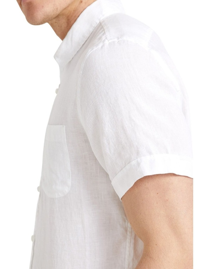 Short Sleeve Linen Shirt image 5