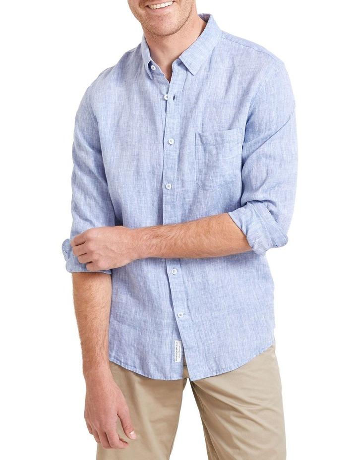 Long Sleeve Linen Yarn Dyed Shirt image 1