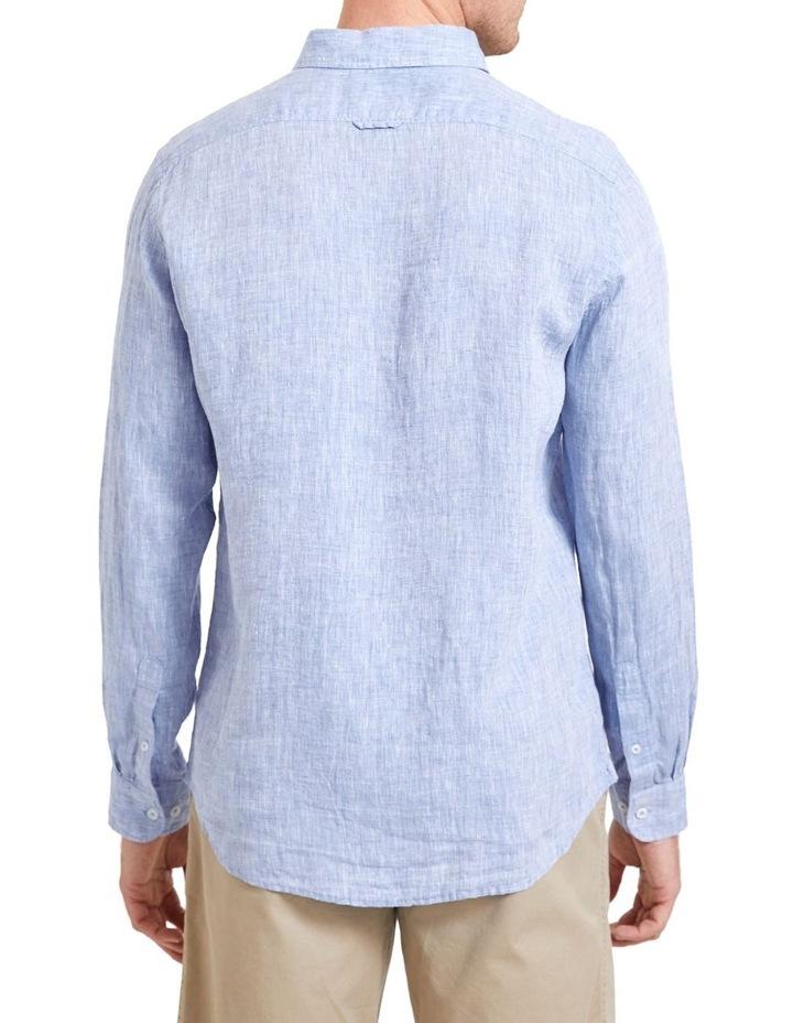 Long Sleeve Linen Yarn Dyed Shirt image 2