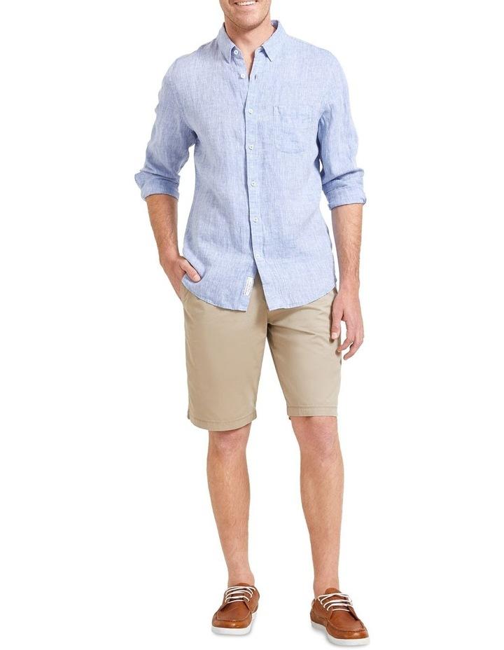 Long Sleeve Linen Yarn Dyed Shirt image 4