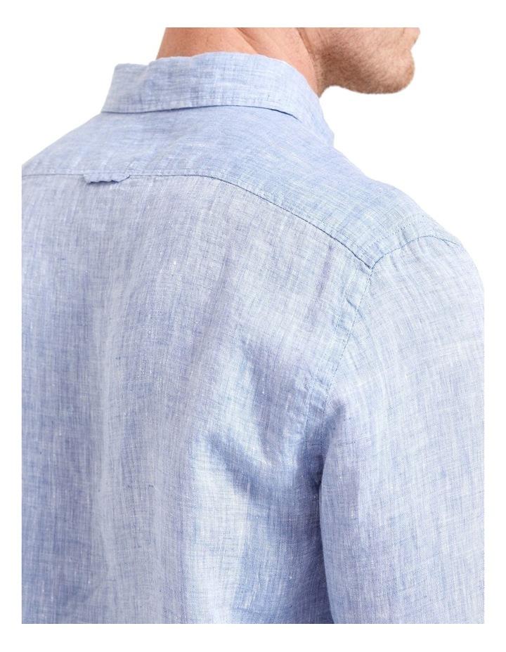 Long Sleeve Linen Yarn Dyed Shirt image 5