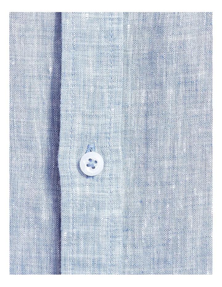 Long Sleeve Linen Yarn Dyed Shirt image 6
