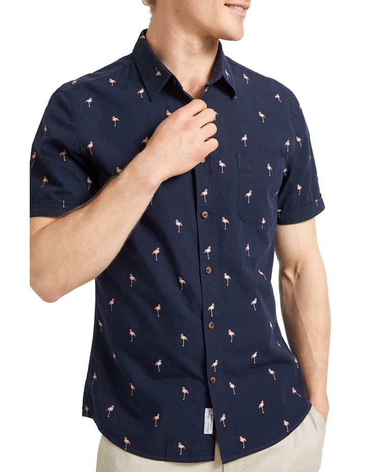 Short Sleeve Tapered Flamingo Shirt image 1