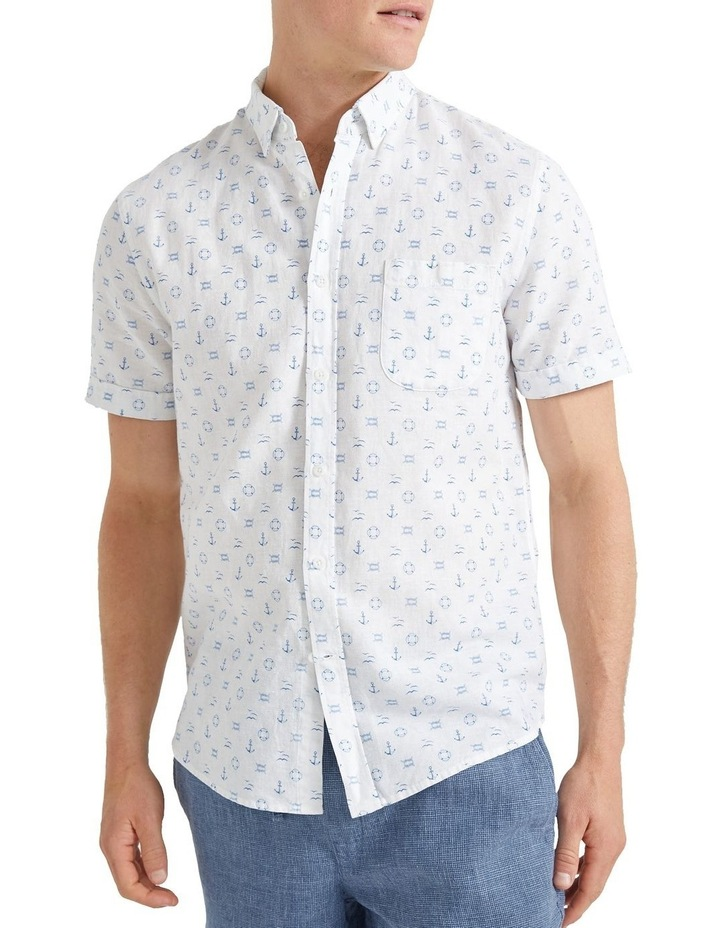 Anchor Linen Blend Print Shirt image 1