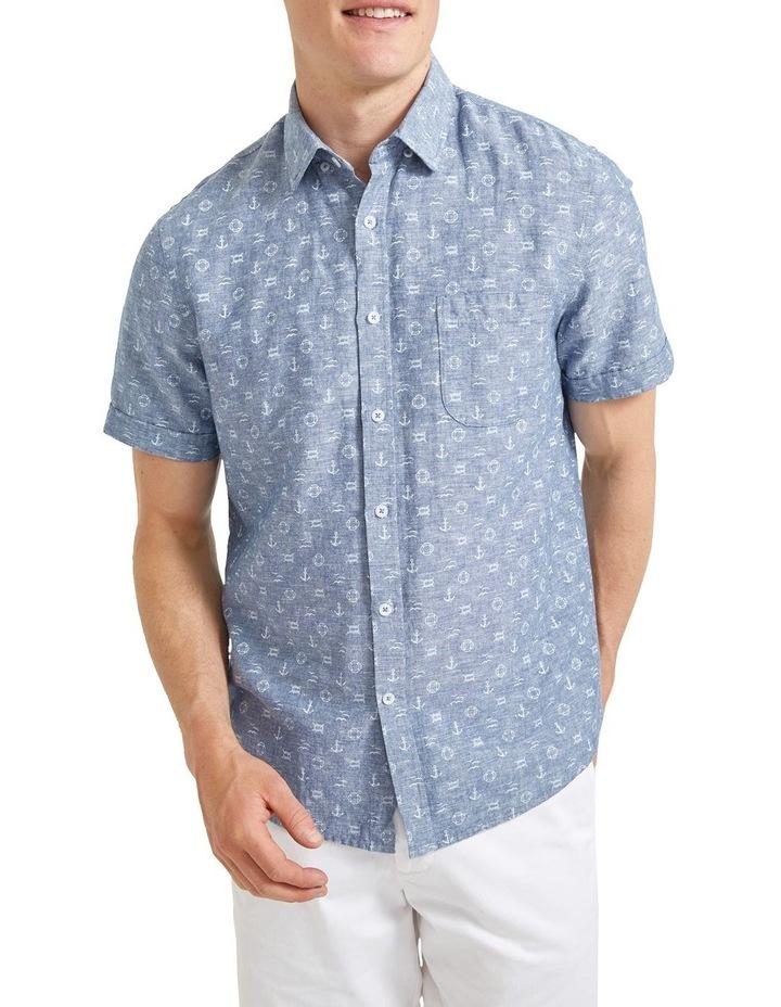 Anchor Linen Blend Print Shirt image 1