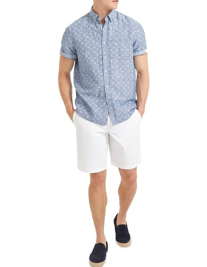 Anchor Linen Blend Print Shirt image 3
