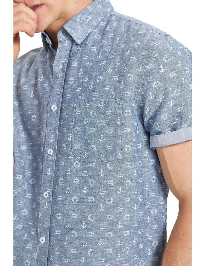 Anchor Linen Blend Print Shirt image 4