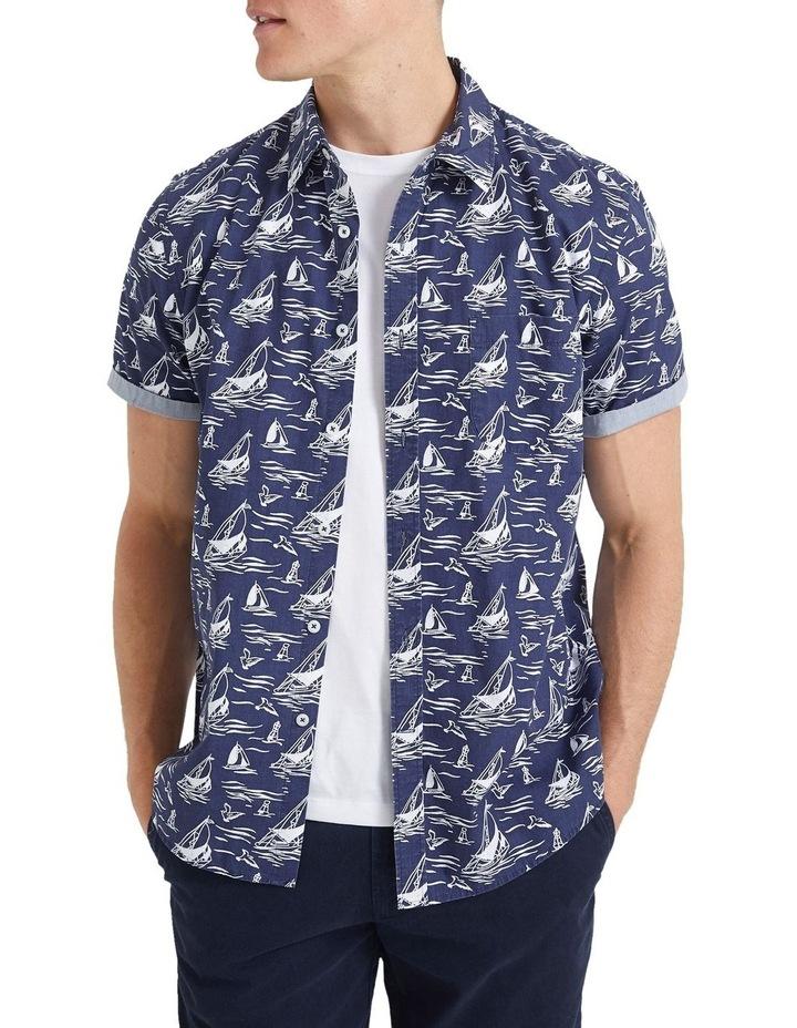 Wave Short Sleeve Print Shirt image 1