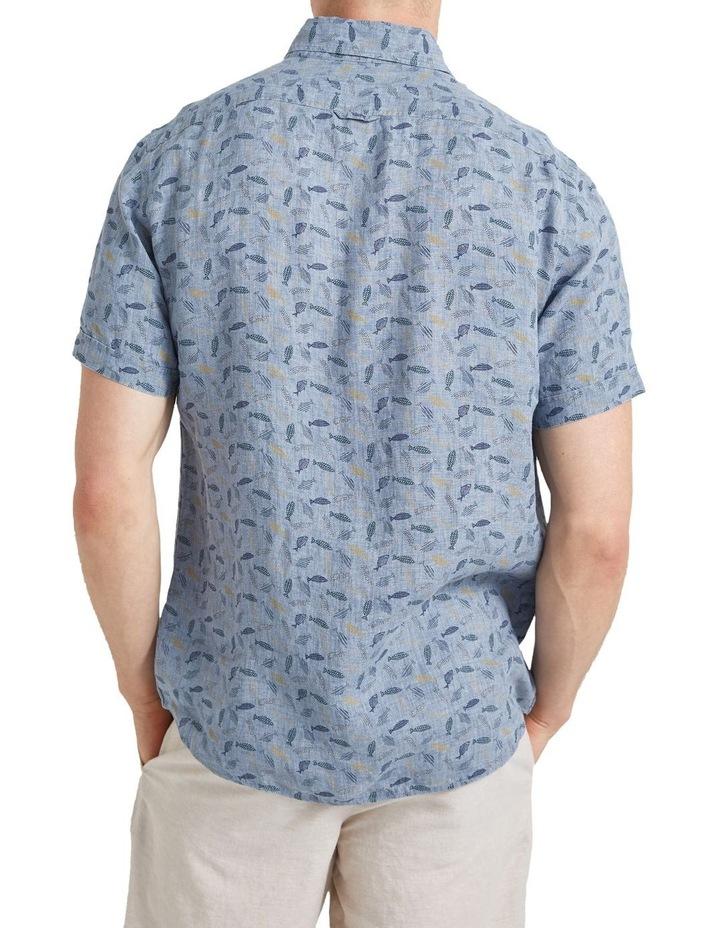 Short Sleeve Linen Print Shirt image 2