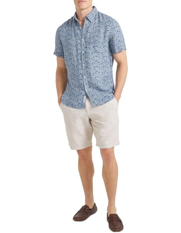 Short Sleeve Linen Print Shirt image 3
