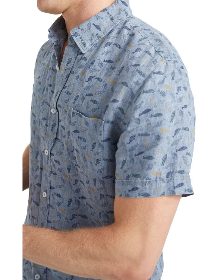 Short Sleeve Linen Print Shirt image 4