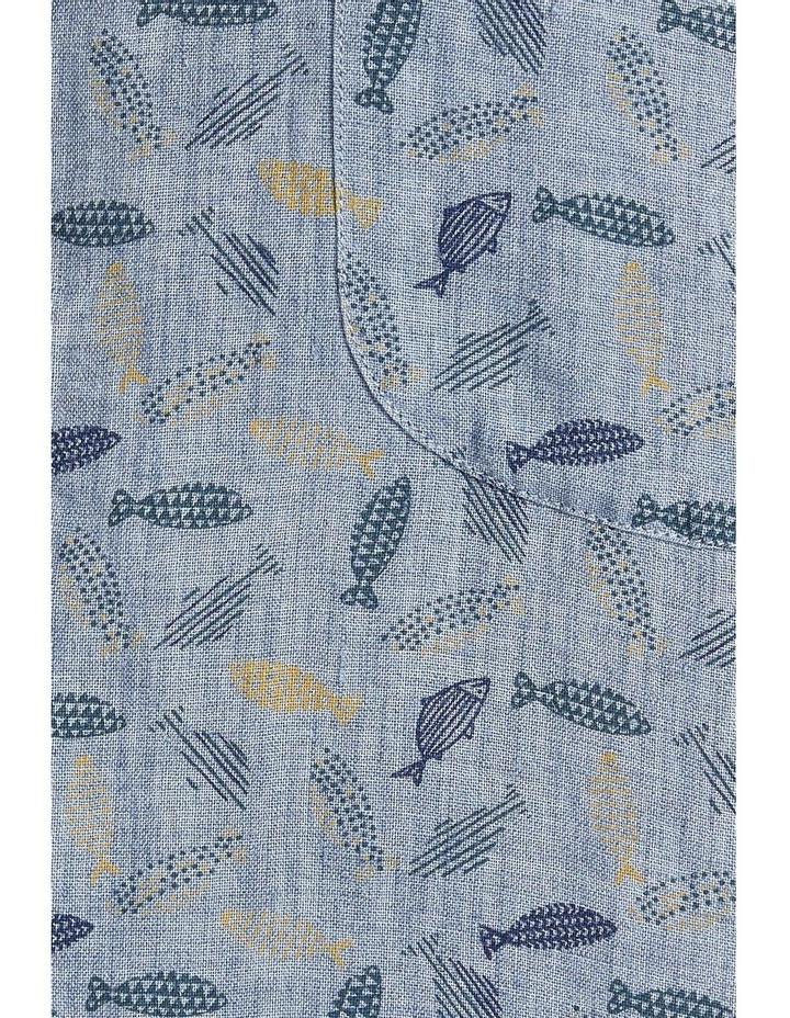 Short Sleeve Linen Print Shirt image 5