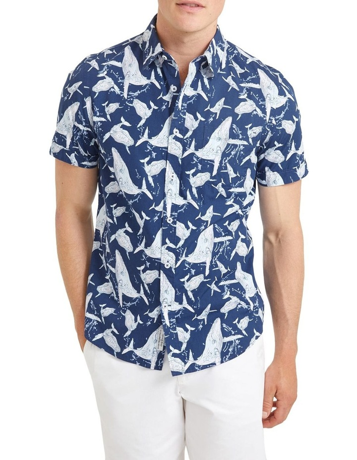 Whale Short Sleeve Print Shirt image 1