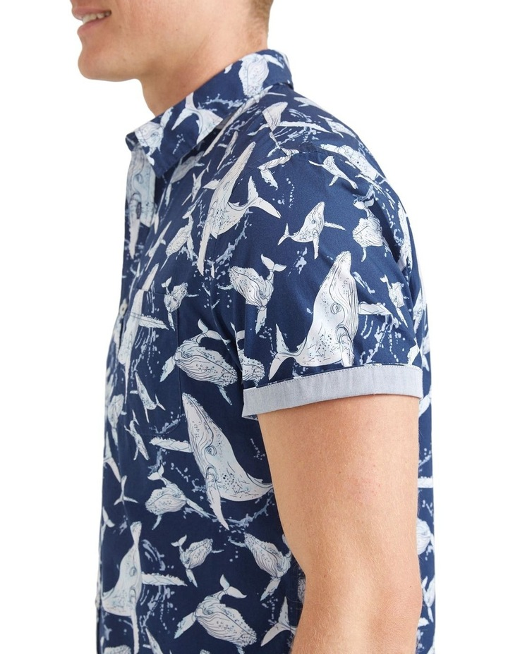 Whale Short Sleeve Print Shirt image 3