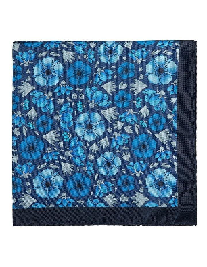 Blue Wild Rose Pocket Sqare image 1