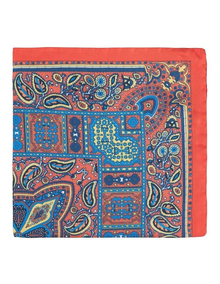 Orange Floglia Pocket Square image 1