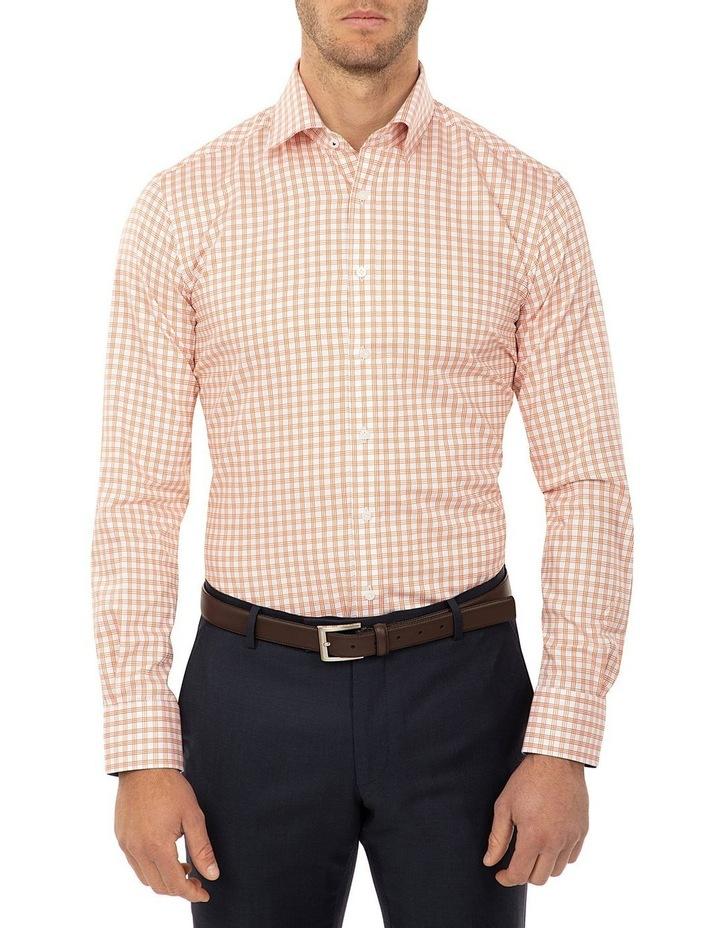 Tailored Fit Rust Giorgio Shirt image 1