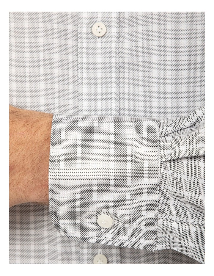 Tailored Fit Black and White Giorgio Shirt image 4