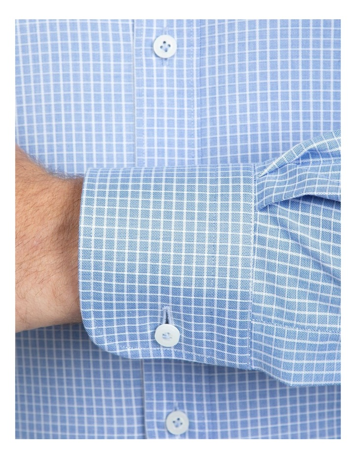 Blue Tailored Fit Giorgio Shirt image 4