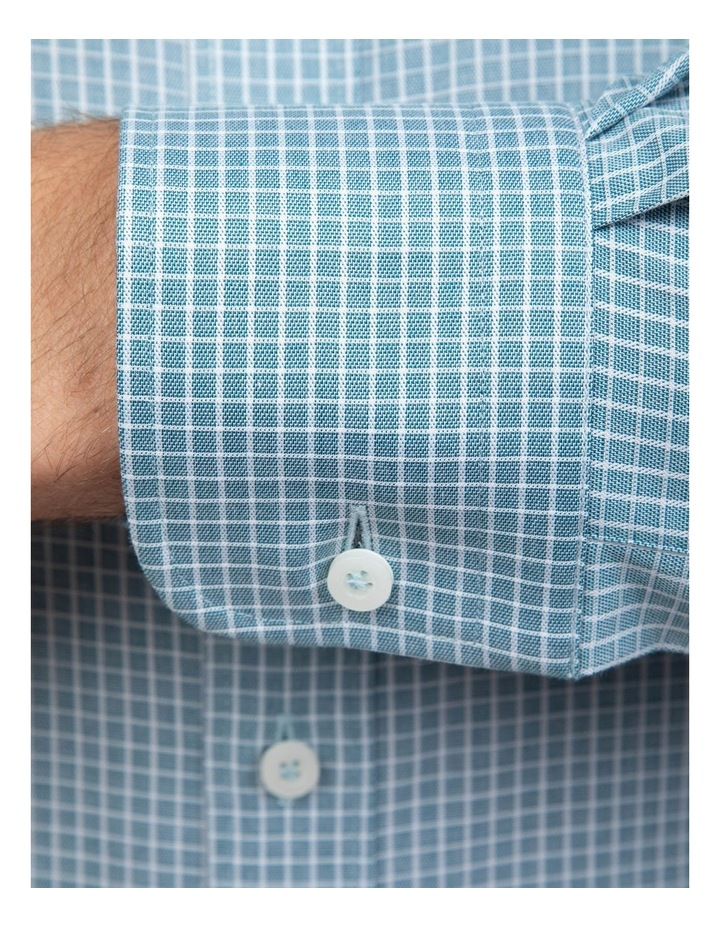 Teal Tailored Fit Giorgio Shirt image 4
