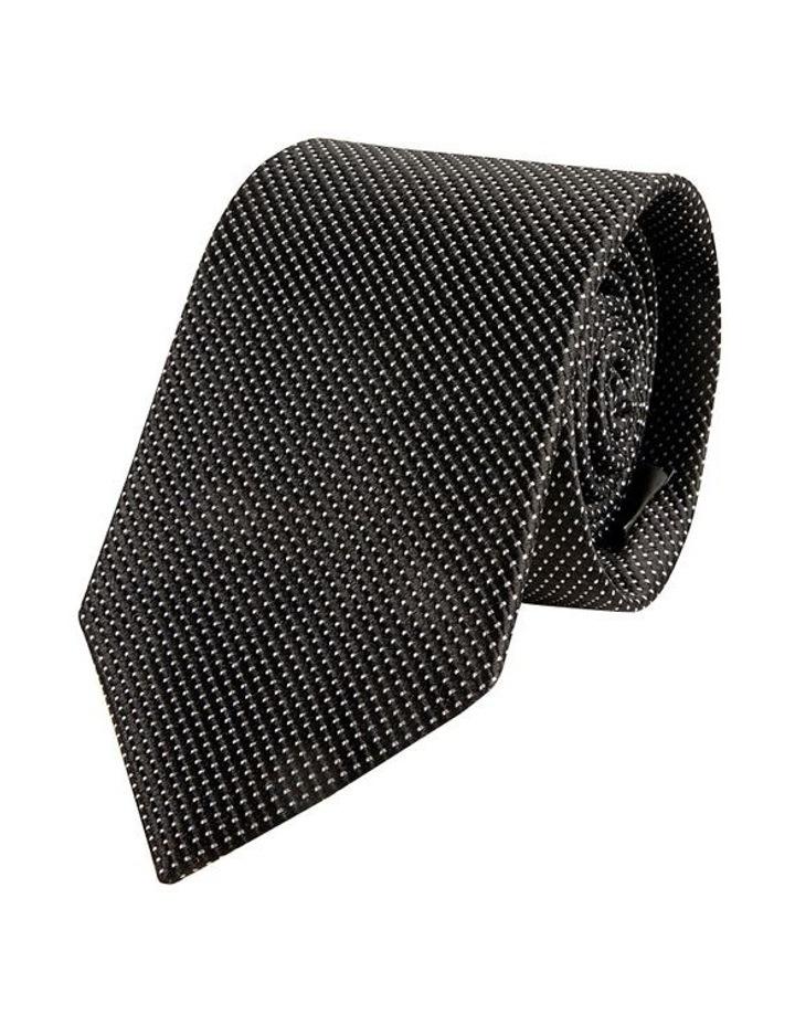 Black Tessere Silk Tie image 1