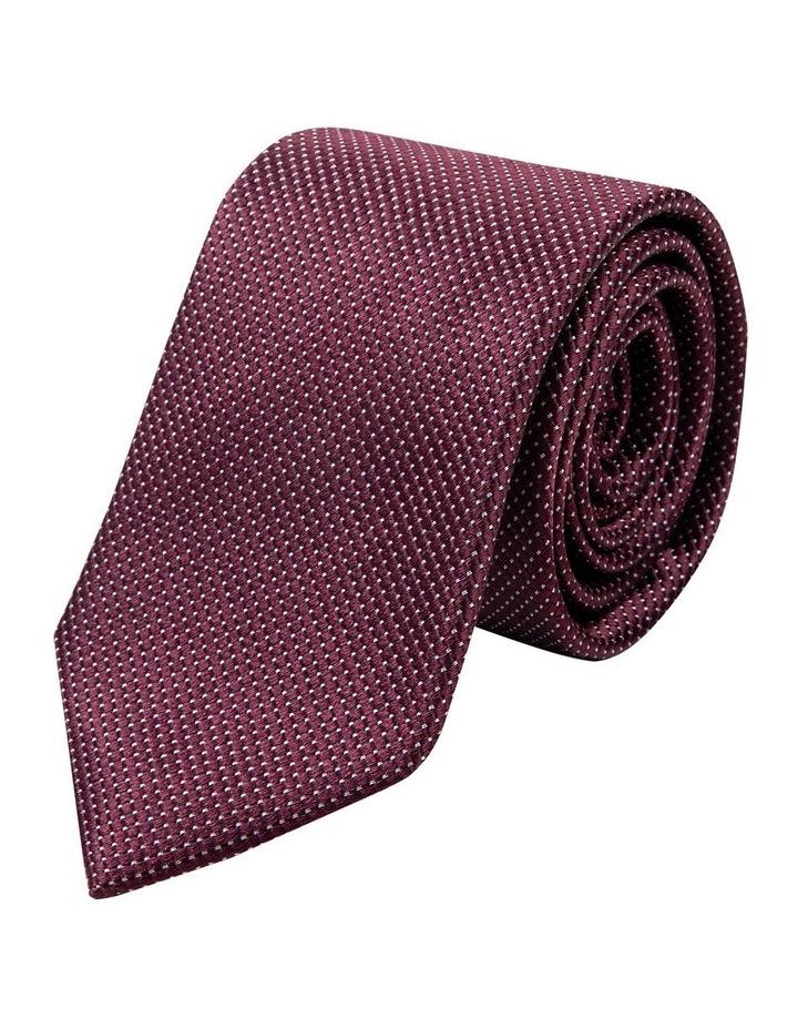 Wine Tessere Silk Tie image 1