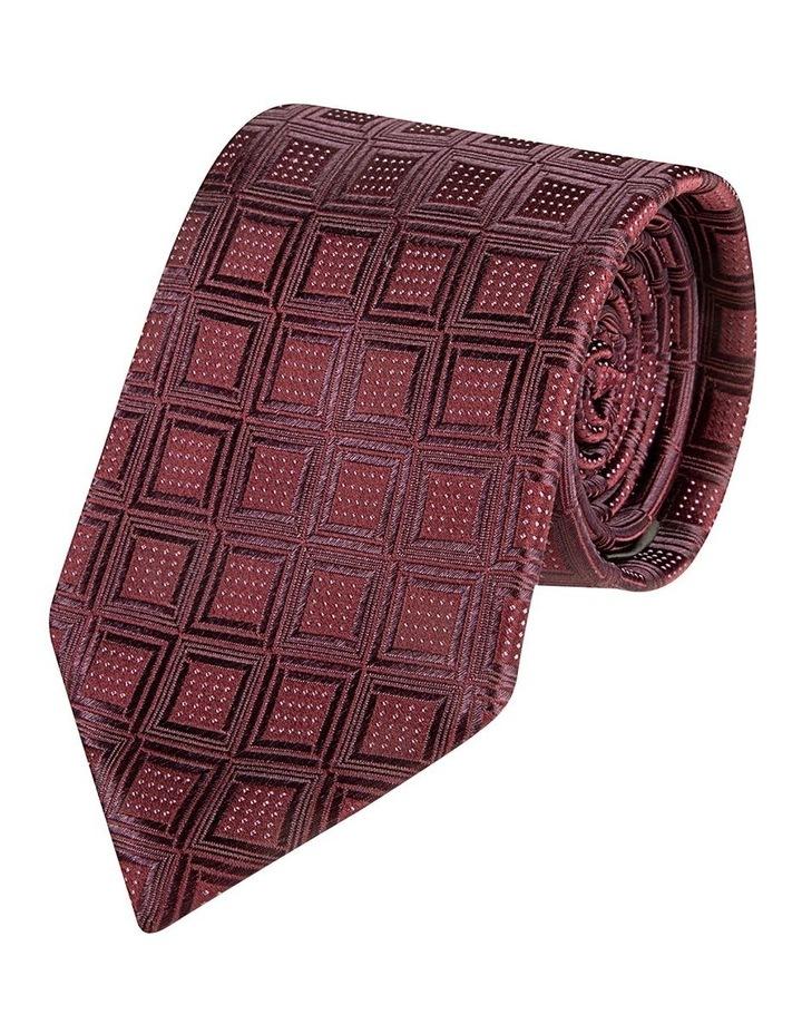 Wine Reticolo Silk Tie image 1