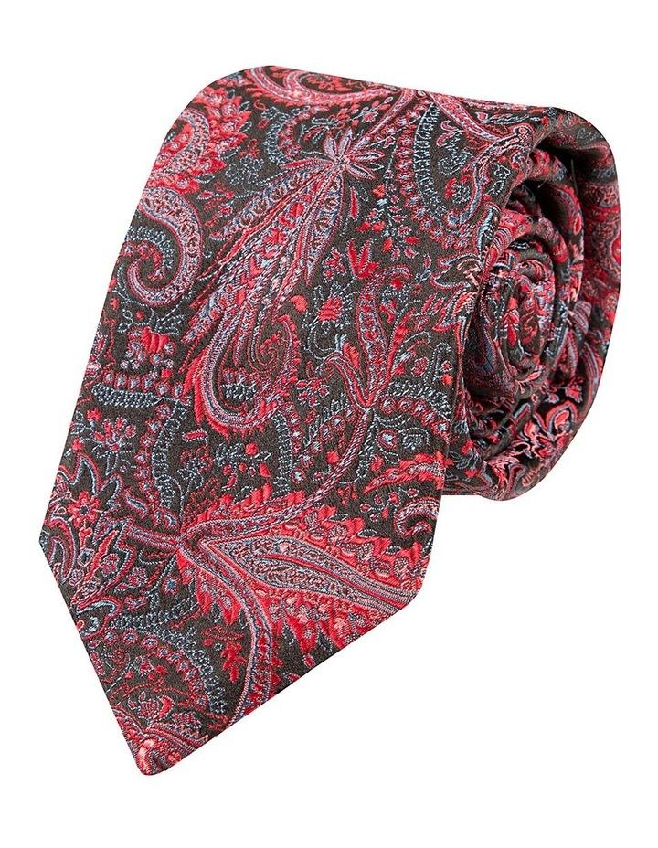 Red Schizzo Paisley Tie image 1