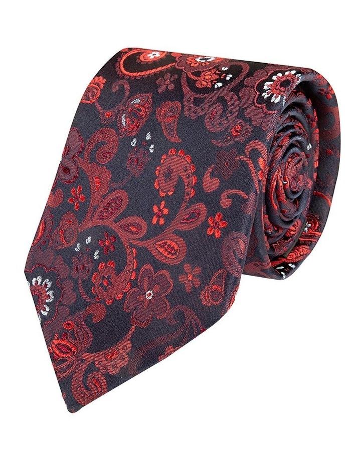 Red Fiori Paisley Silk Tie image 1
