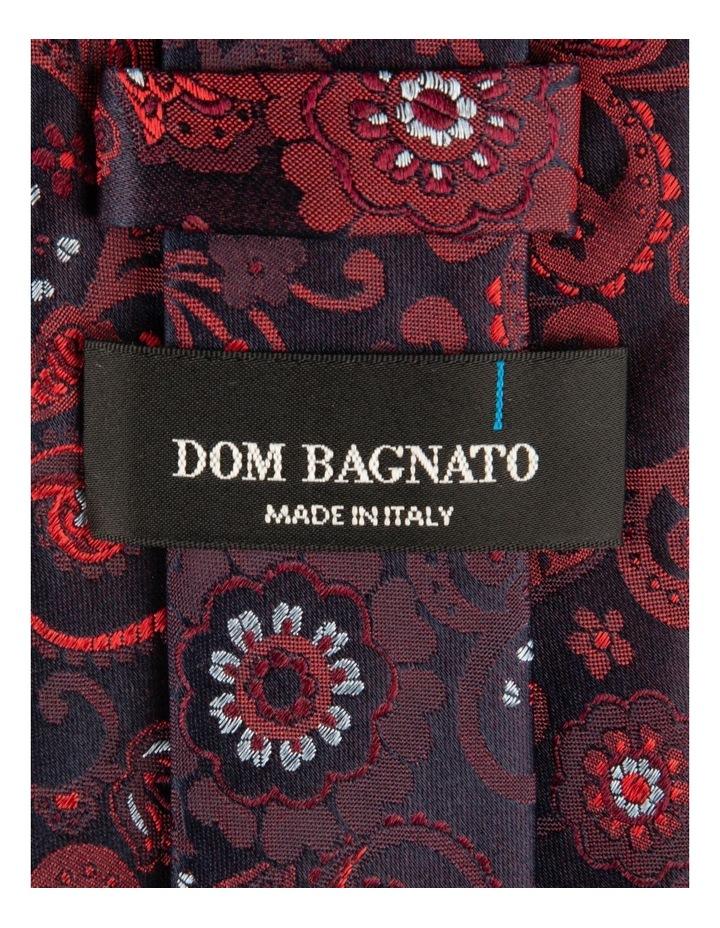 Red Fiori Paisley Silk Tie image 2