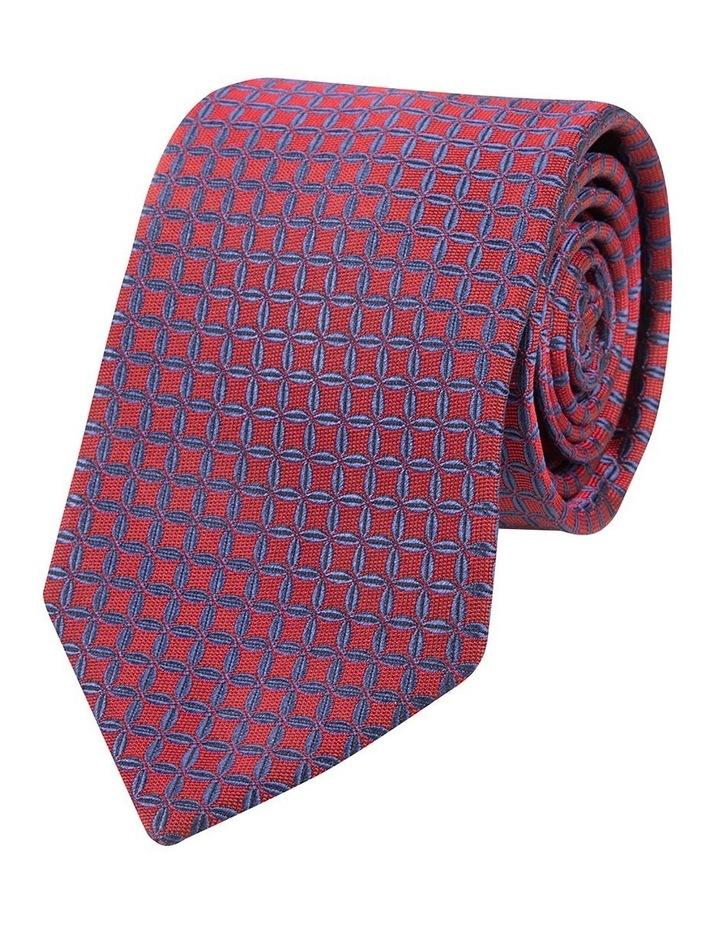 Red Sutura Silk Tie image 1