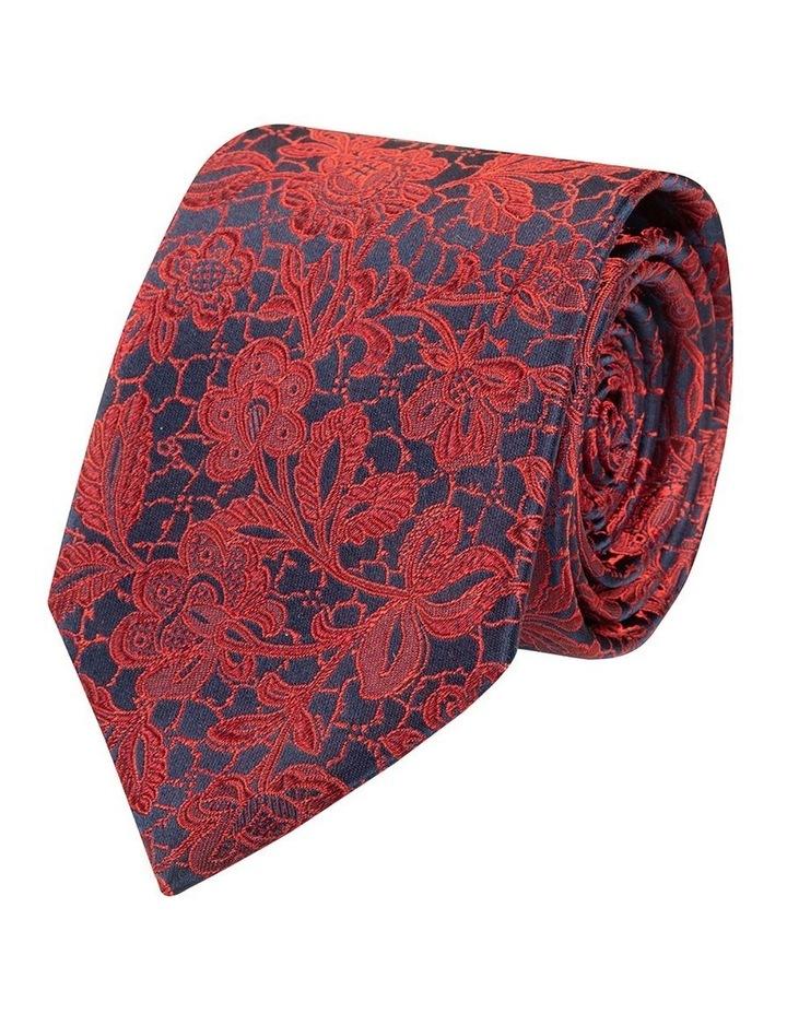 Red Ricamo Silk Tie image 1
