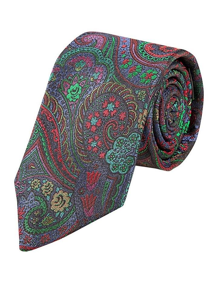 Emerald Burano Paisley Silk Tie image 1