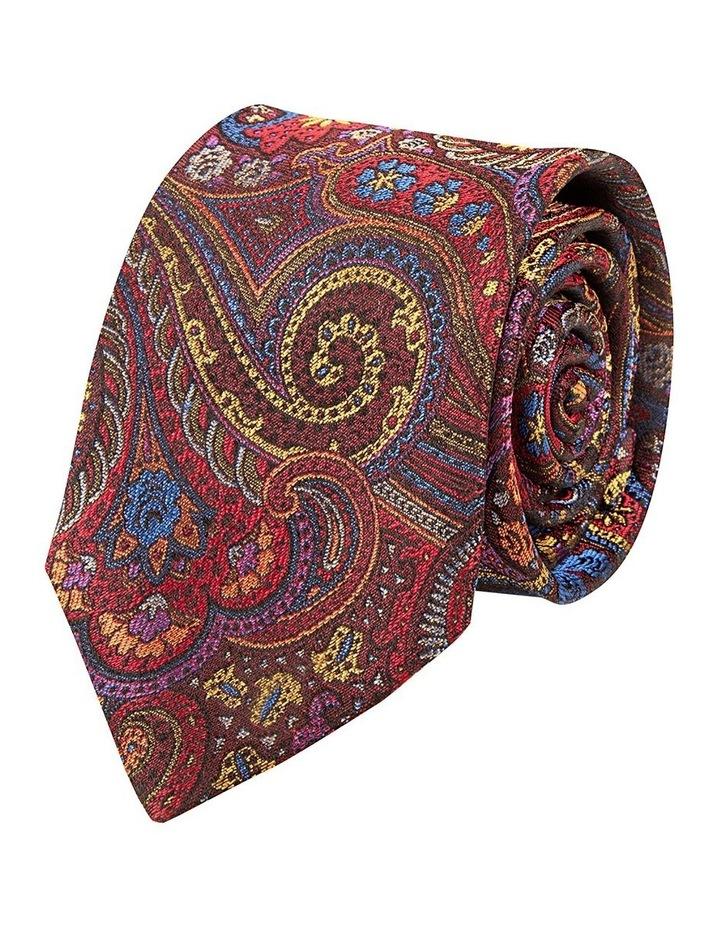 Red Burano Paisley Silk Tie image 1