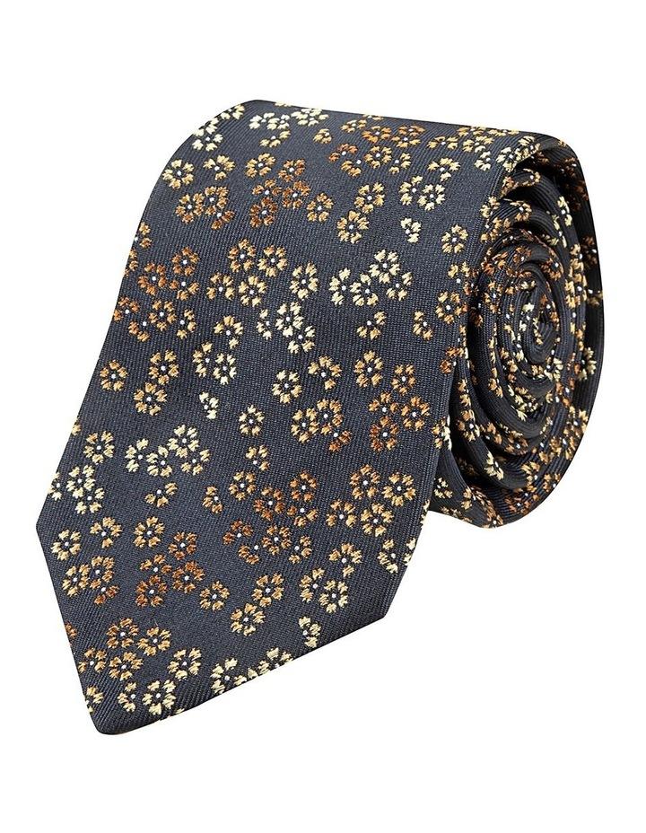 Taupe Dianthus Silk Tie image 1